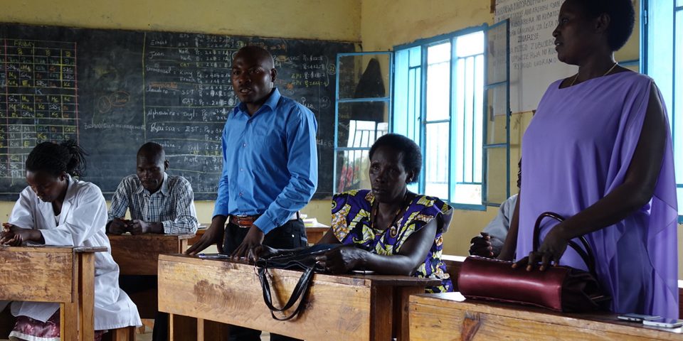 Meeting with teachers at Shango school