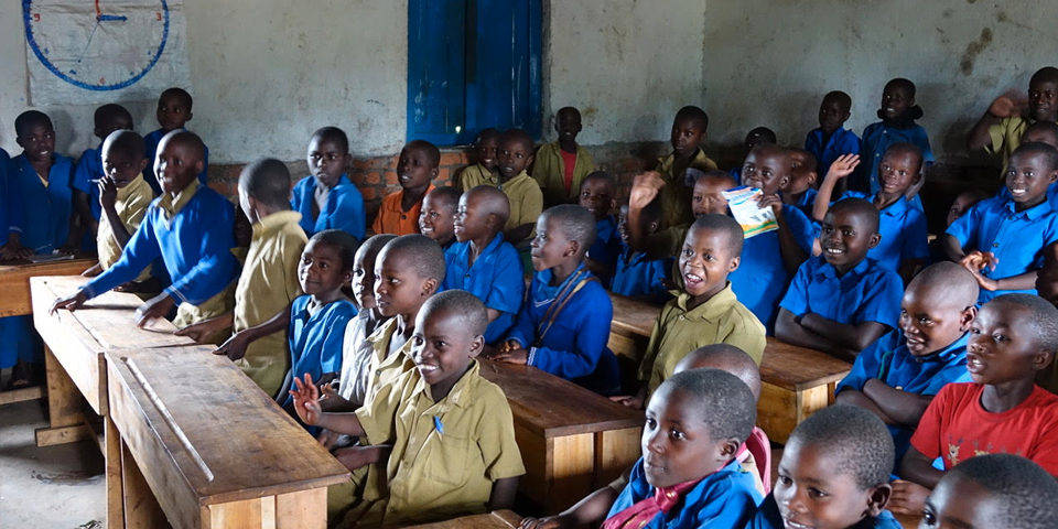 Students in a classroom in Western Province
