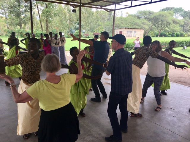 Dancing at the Ethnographic Museum in Huye.
