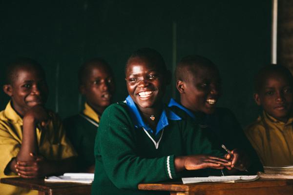 Girl in a Rubavu classroom