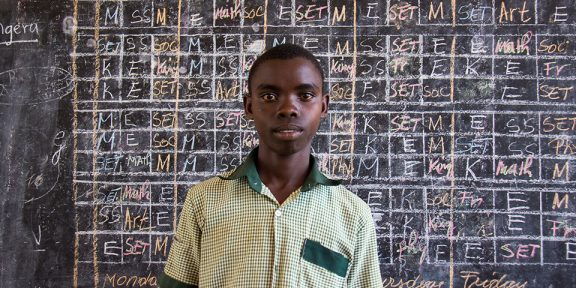 Jean Paul, student at Kibara Primary School.